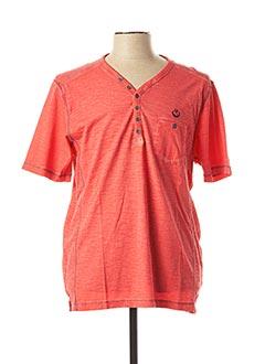 T-shirt manches courtes rouge MONTE CARLO pour homme