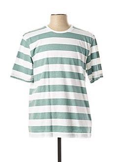 T-shirt manches courtes vert FYNCH-HATTON pour homme