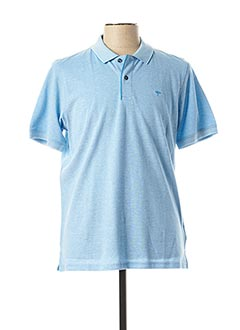 Polo manches courtes bleu FYNCH-HATTON pour homme