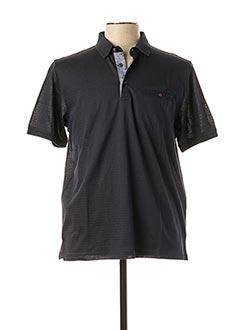Polo manches courtes noir MONTE CARLO pour homme