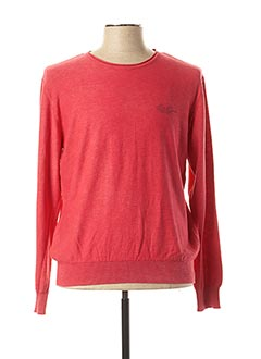 Pull col rond rouge MONTE CARLO pour homme