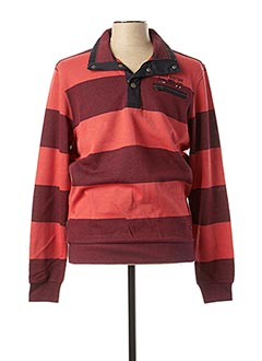 Sweat-shirt rouge MONTE CARLO pour homme