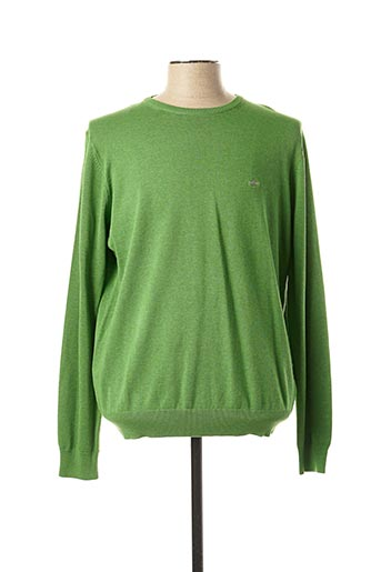 Pull col rond vert FYNCH-HATTON pour homme