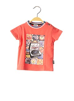 T-shirt manches courtes rouge NANO & NANETTE pour garçon