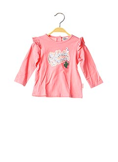 T-shirt manches longues rose NANO & NANETTE pour fille