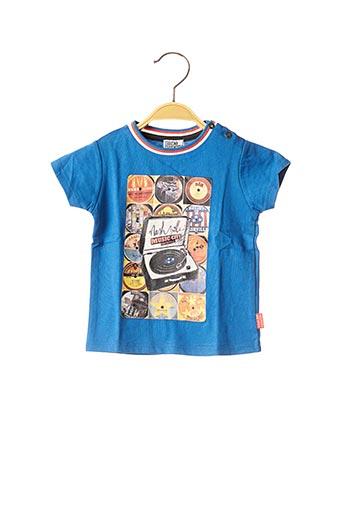 T-shirt manches courtes bleu NANO & NANETTE pour garçon
