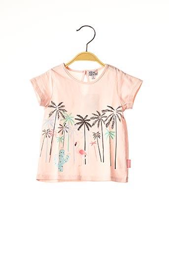 T-shirt manches courtes rose NANO & NANETTE pour fille