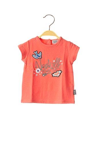 T-shirt manches courtes rouge NANO & NANETTE pour fille