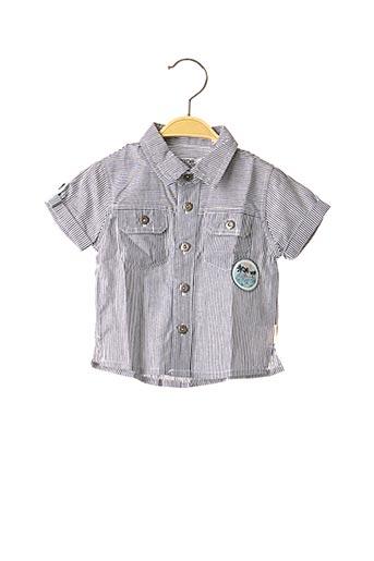 Chemise manches courtes bleu NANO & NANETTE pour garçon