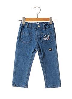 Jeans coupe slim bleu NANO & NANETTE pour fille