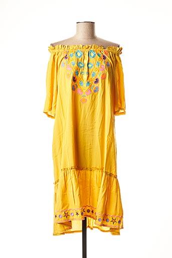 Robe mi-longue orange CIAO MILANO pour femme