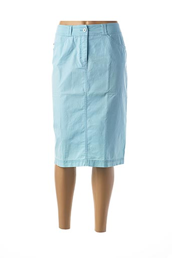 Jupe mi-longue bleu RABE pour femme