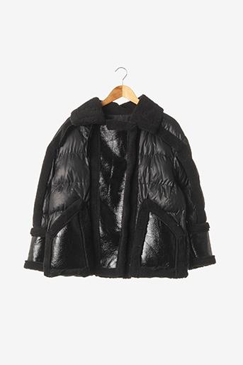 Manteau court noir FLAM MODE pour femme
