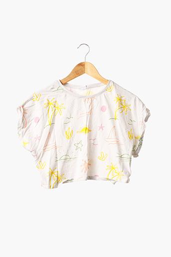 T-shirt manches courtes blanc ZARA pour fille