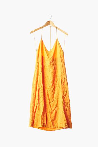Robe mi-longue orange ZARA pour femme