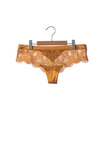 Shorty/Boxer jaune POMM'POIRE pour femme