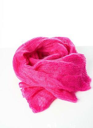 Echarpe rose CLAIRE JACQMIN pour femme