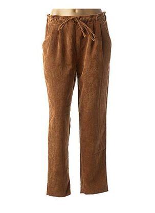 Pantalon casual marron LA FEE MARABOUTEE pour femme