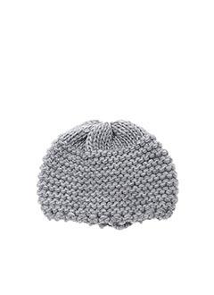 Bonnet gris LA FEE MARABOUTEE pour femme