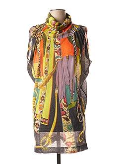 Pull tunique orange FUZZI pour femme