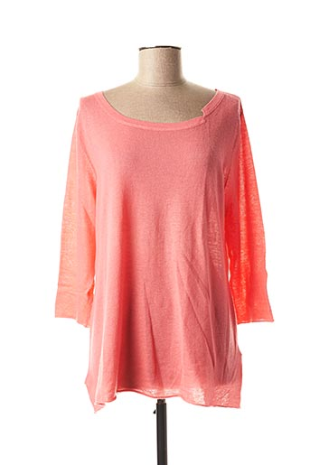 Pull col bateau rose ALLUDE pour femme