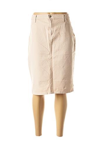 Jupe mi-longue beige ABSOLU pour femme