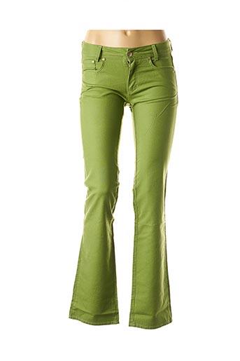Pantalon casual vert TRUSSARDI JEANS pour femme