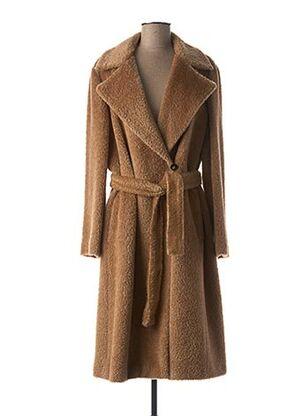 Manteau long beige MARELLA pour femme
