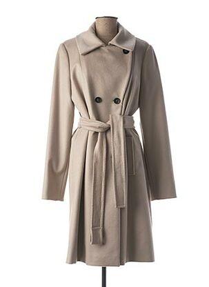 Manteau long gris MARELLA pour femme