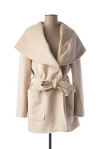 Manteau court beige CINZIA ROCCA pour femme