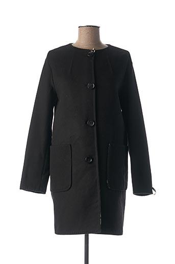 Manteau long noir I BLUES pour femme