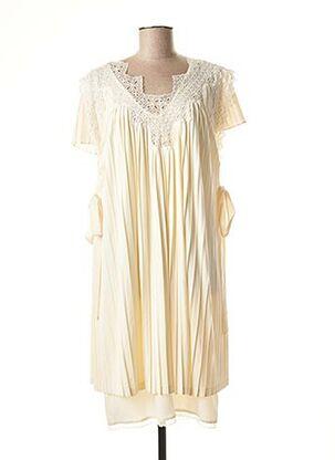 Robe mi-longue beige TWINSET pour femme