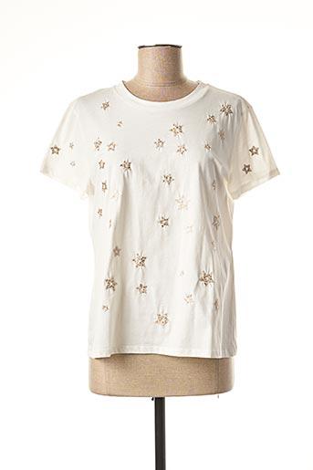 T-shirt manches courtes blanc MARELLA pour femme