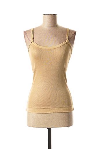 Top beige MARITHE & FRANCOIS GIRBAUD pour femme