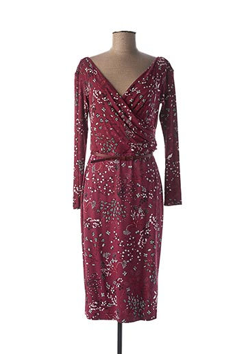 Robe mi-longue rouge MAXMARA pour femme