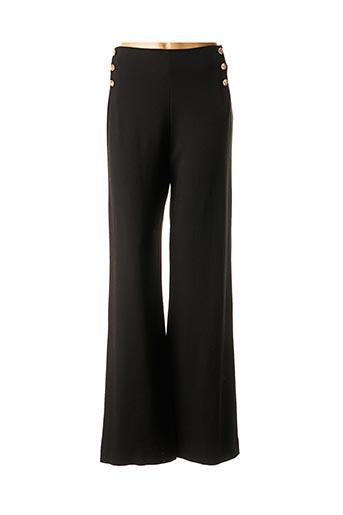 Pantalon casual noir EDWARD ACHOUR pour femme