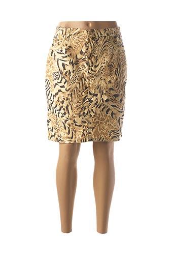 Jupe courte beige ANGELO MARANI pour femme