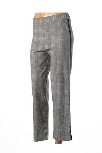 Pantalon chic gris FRANCK ANNA pour femme