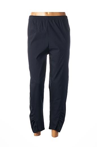 Pantalon 7/8 bleu FRANCK ANNA pour femme