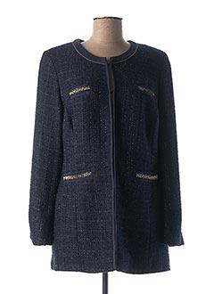 Manteau court bleu TRICOT CHIC pour femme