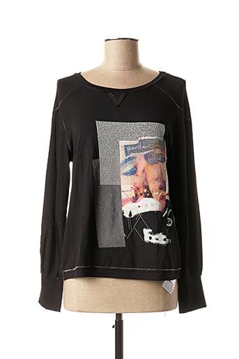 T-shirt manches longues noir DANIELA DALLAVALLE pour femme