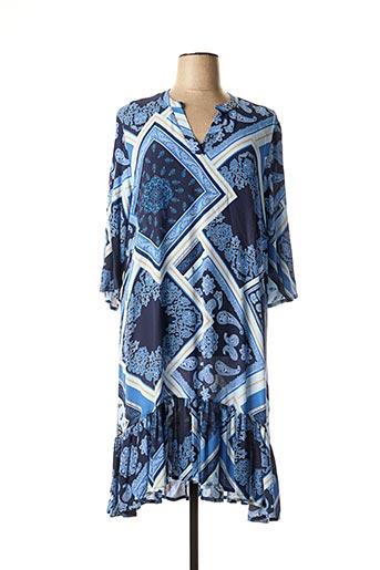 Robe mi-longue bleu APRICO pour femme