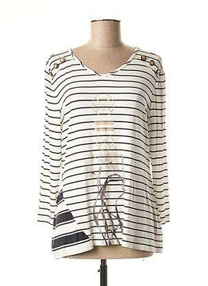T-shirt manches longues blanc SPORTALM pour femme