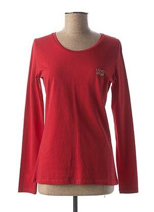 T-shirt manches longues rouge LIU JO pour femme