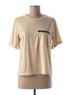 T-shirt manches courtes jaune ALYSSA pour femme