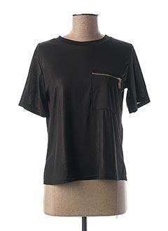 T-shirt manches courtes noir ALYSSA pour femme
