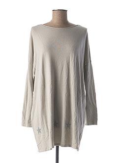 Robe mi-longue gris BEAUTY WOMEN pour femme