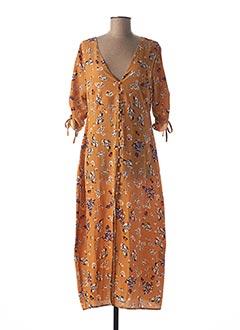 Robe mi-longue marron SWEEWË pour femme
