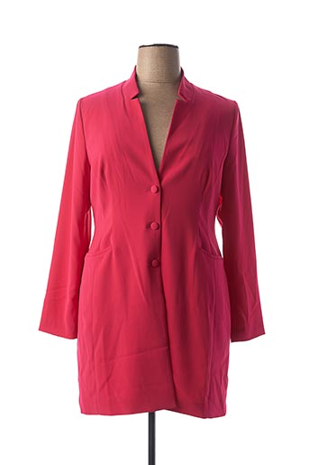 Manteau long rose INDIES pour femme