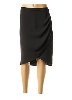 Jupe mi-longue noir AQUA pour femme